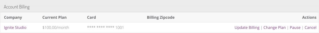 Account Billing