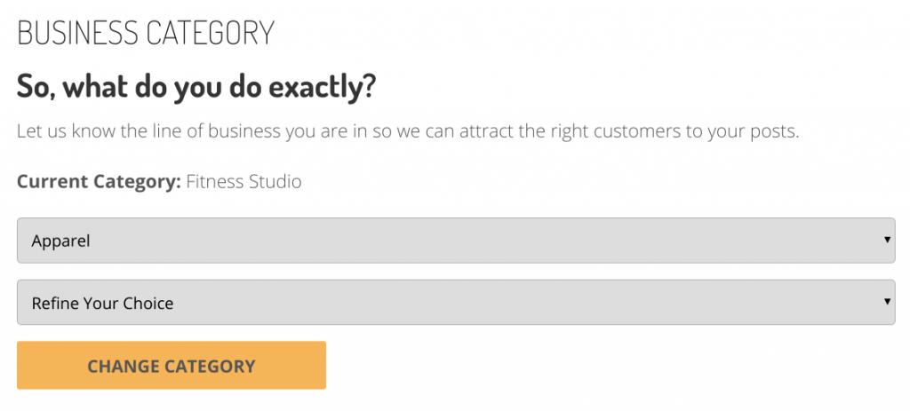 Buzz Frenzy Dashboard Business Category