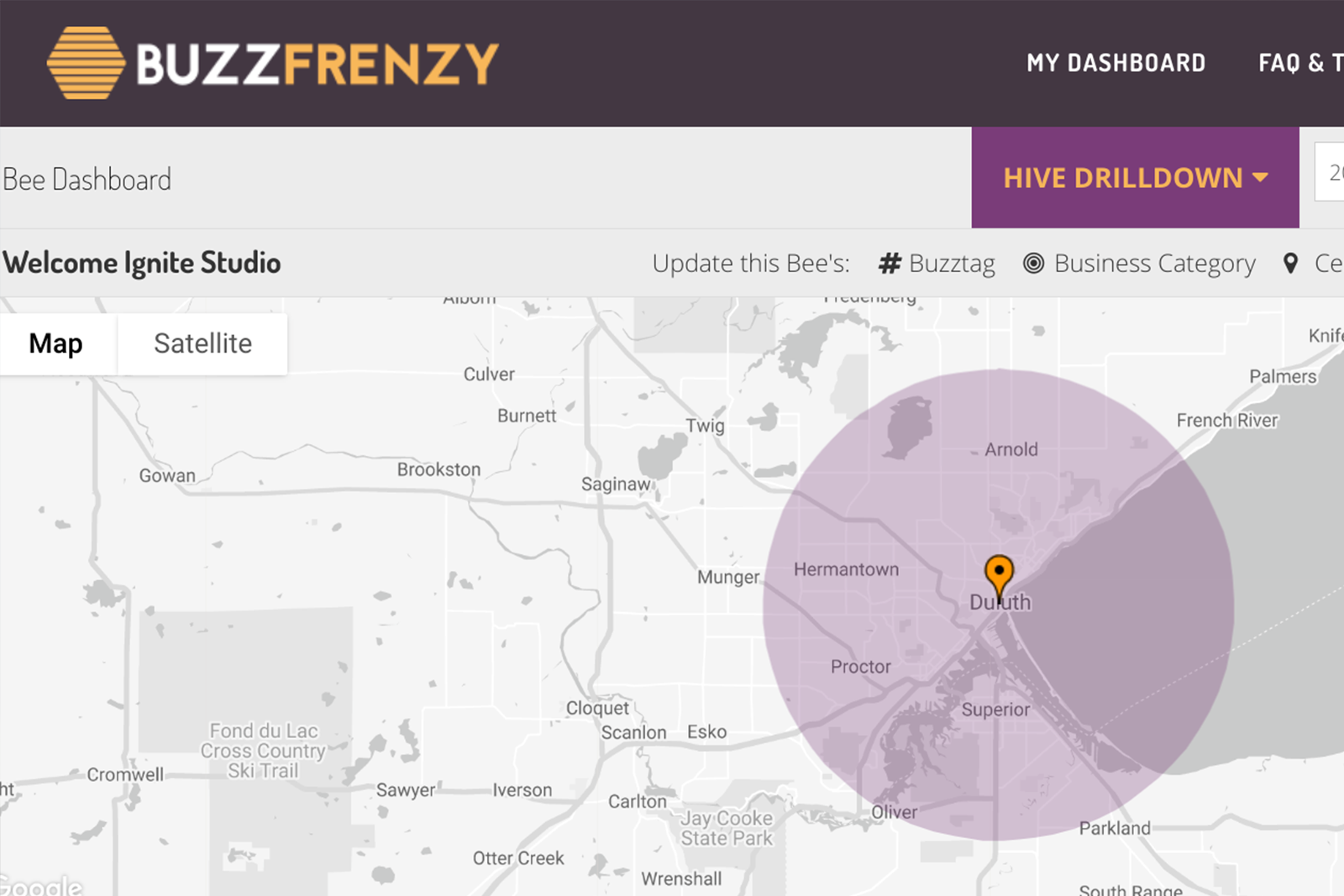 Buzz Frenzy Dashboard